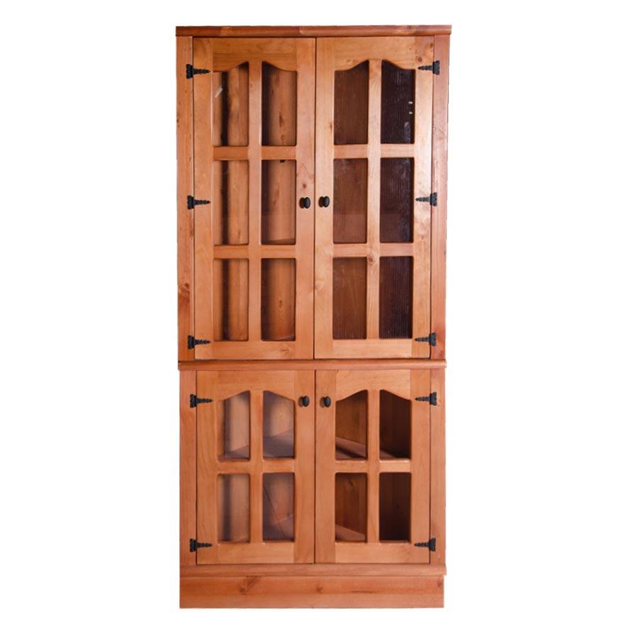 Muebles rio tolt n esquinero de madera vidriado for Esquineros de madera
