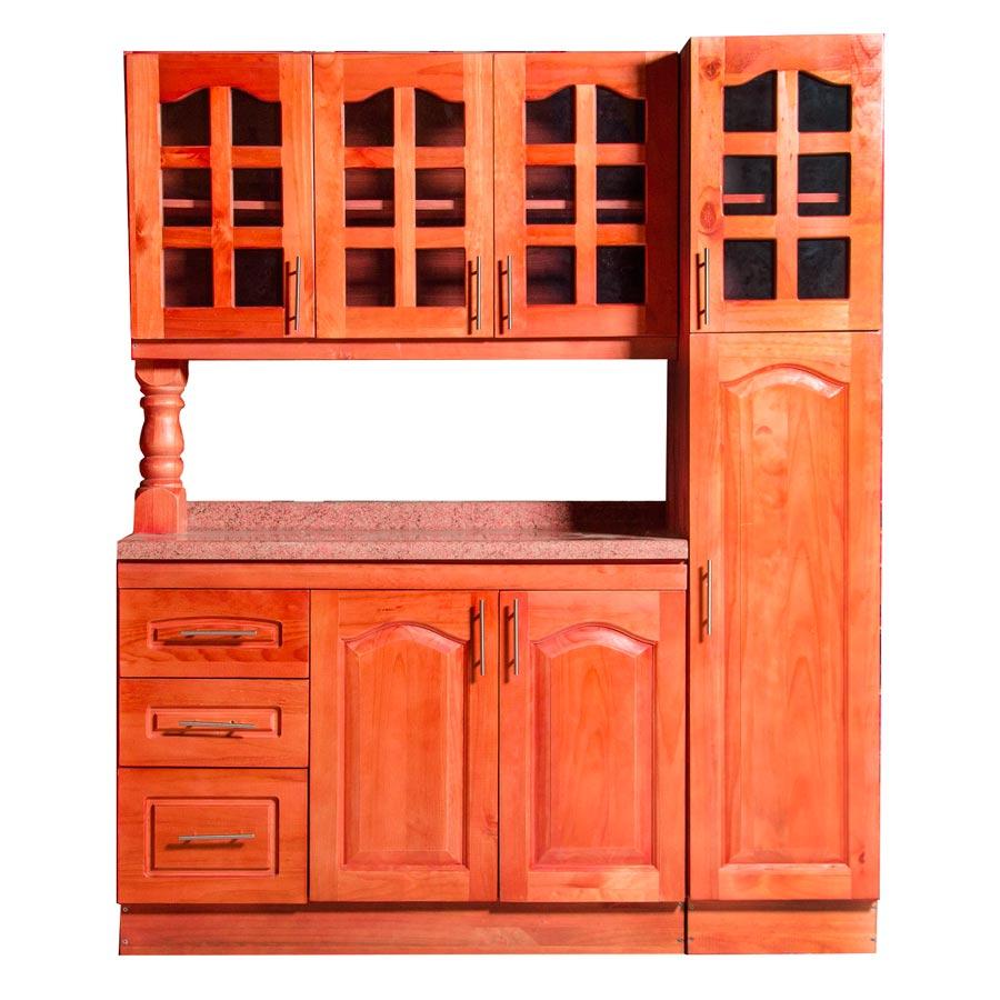 Muebles rio tolt n mueble cocina de madera vidriado 3 - Mueble rinconera cocina ...