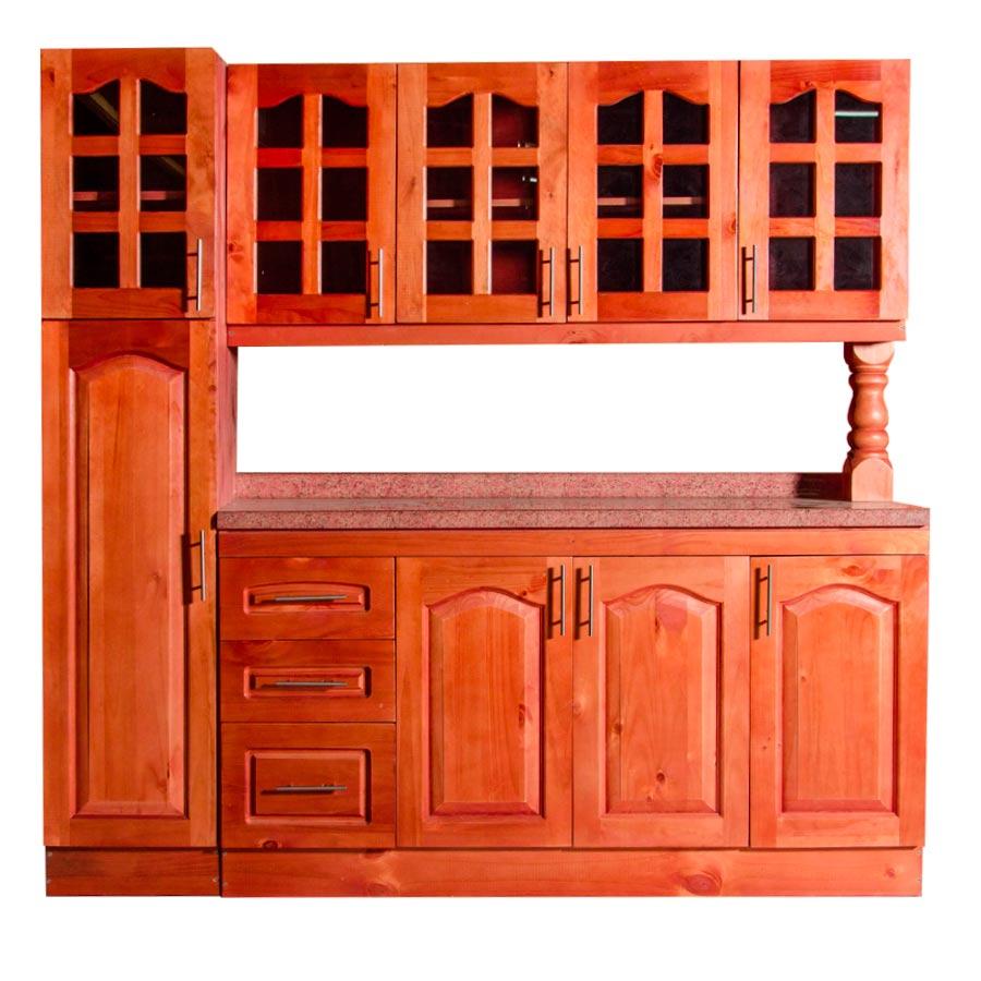 Muebles rio tolt n mueble cocina de madera vidriado 4 - Mueble botellero cocina ...