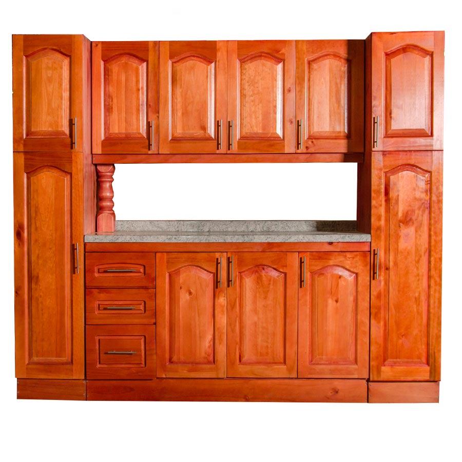 Muebles rio tolt n mueble cocina de madera 4 puertas con for Despensas de cocina a medida