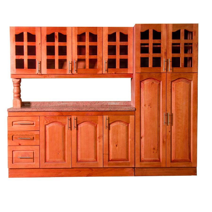 Muebles rio tolt n mueble cocina de madera vidriada 4 puertas 1 despensa doble - Mueble despensa cocina ...