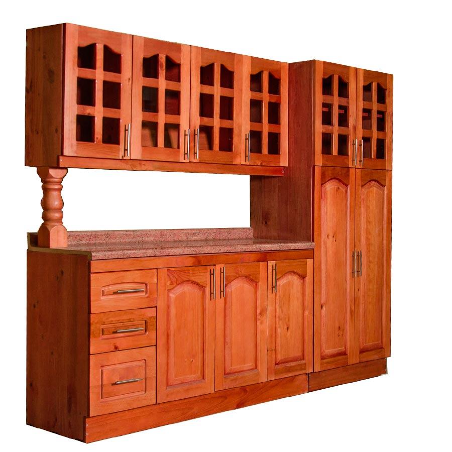 Muebles rio tolt n mueble cocina de madera vidriada 4 for Muebles cocina madera