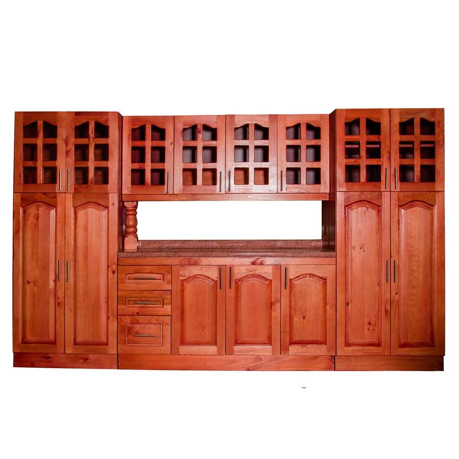 Muebles rio tolt n mueble cocina de madera vidriado 4 for Muebles de cocina despensa