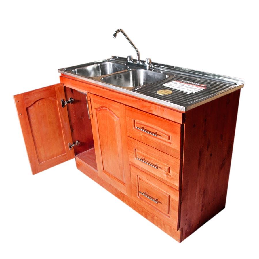 Muebles rio tolt n mueble lavaplatos de madera metros for Muebles de cocina 2 metros