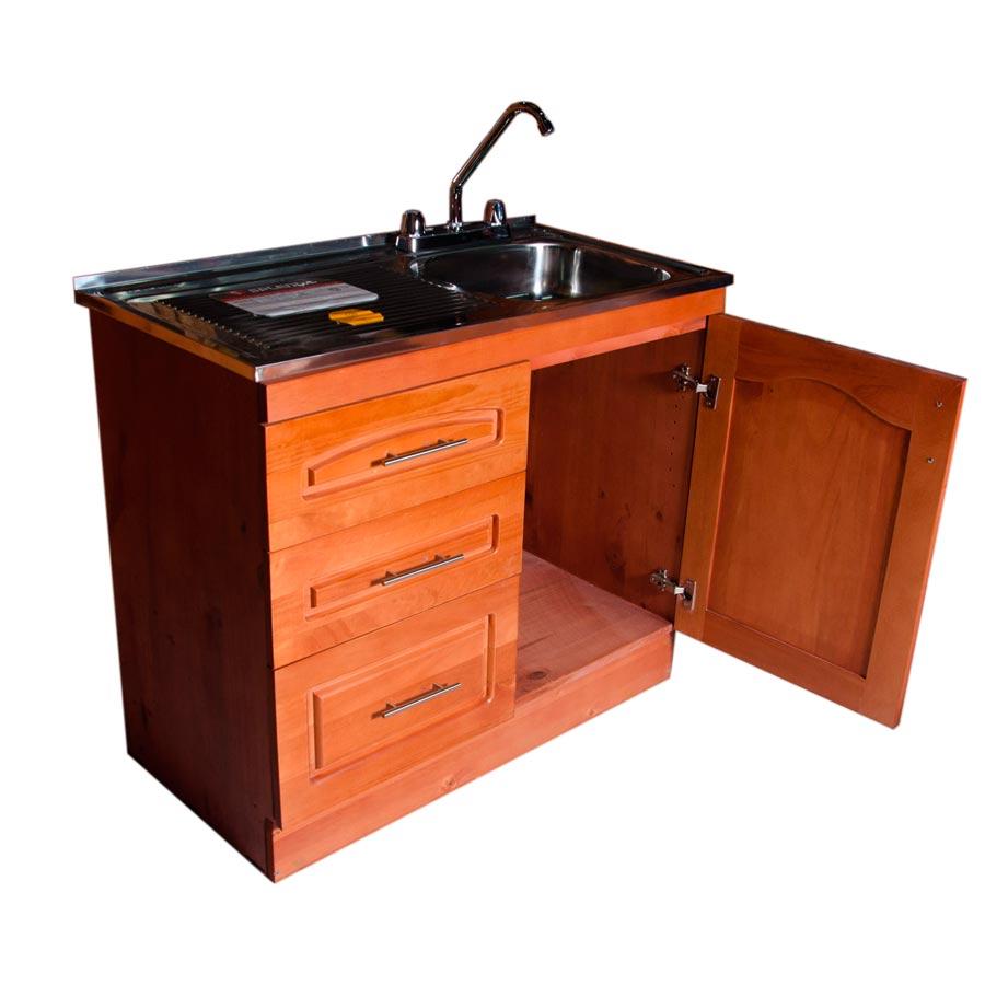 Muebles rio tolt n mueble lavaplatos de madera cms for Muebles de cocina anos 80