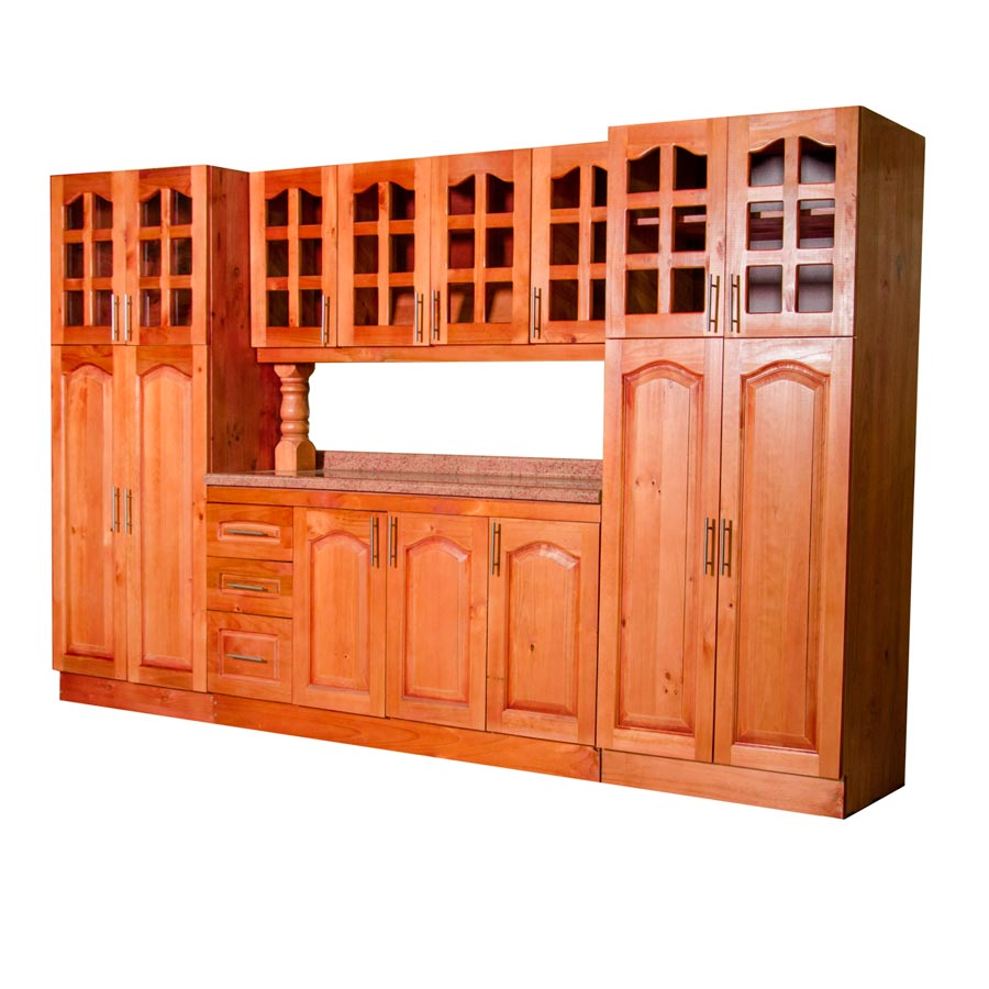 Muebles rio tolt n mueble cocina de madera vidriado 4 for Muebles de cocina 2 metros