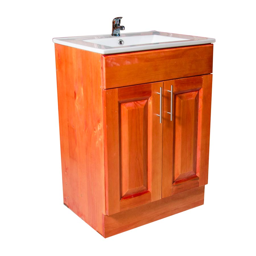 Muebles rio tolt n mueble vanitorio de madera 80 x 50x for Mueble bano 50 cm ancho